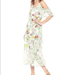 Nanette Lepore spaghetti strap marsh print dress